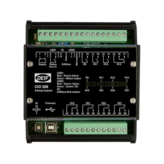 CIO 208, CAN bus IO module - 8 relay outputs