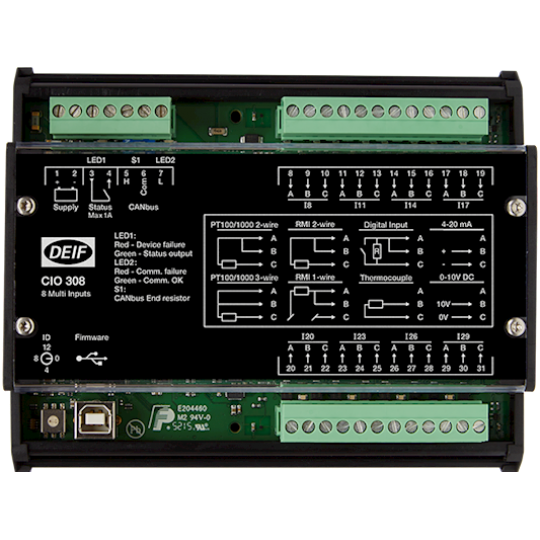 CIO 308, CAN bus IO module - 8 multi-inputs