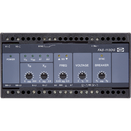 FAS-113DG, Sync. controller with frequency control